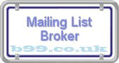 mailing-list-broker.b99.co.uk